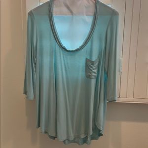Anthropologie Bordeaux top in a soft mint